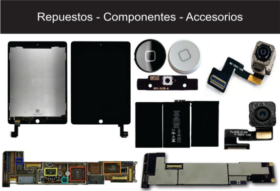 Accesorios , repuestos o componentes ipad Apple